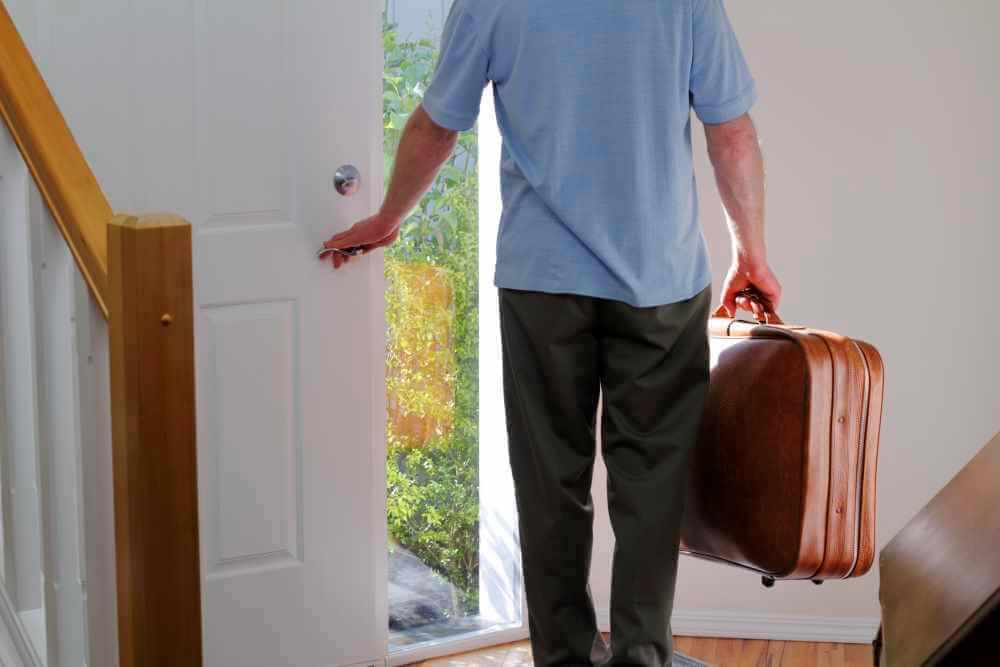 Man leaving home - marriage separation